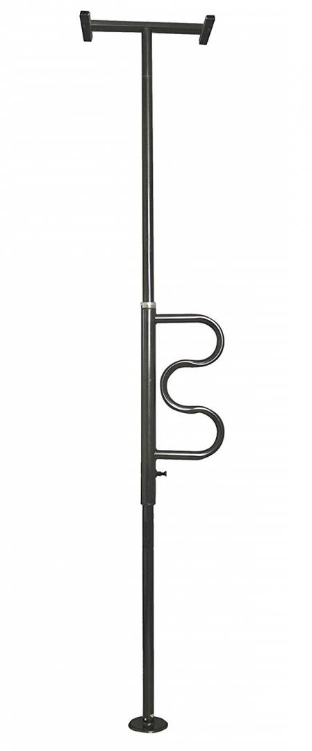 Security Pole and Curved Grab Bar, by Stander Inc.