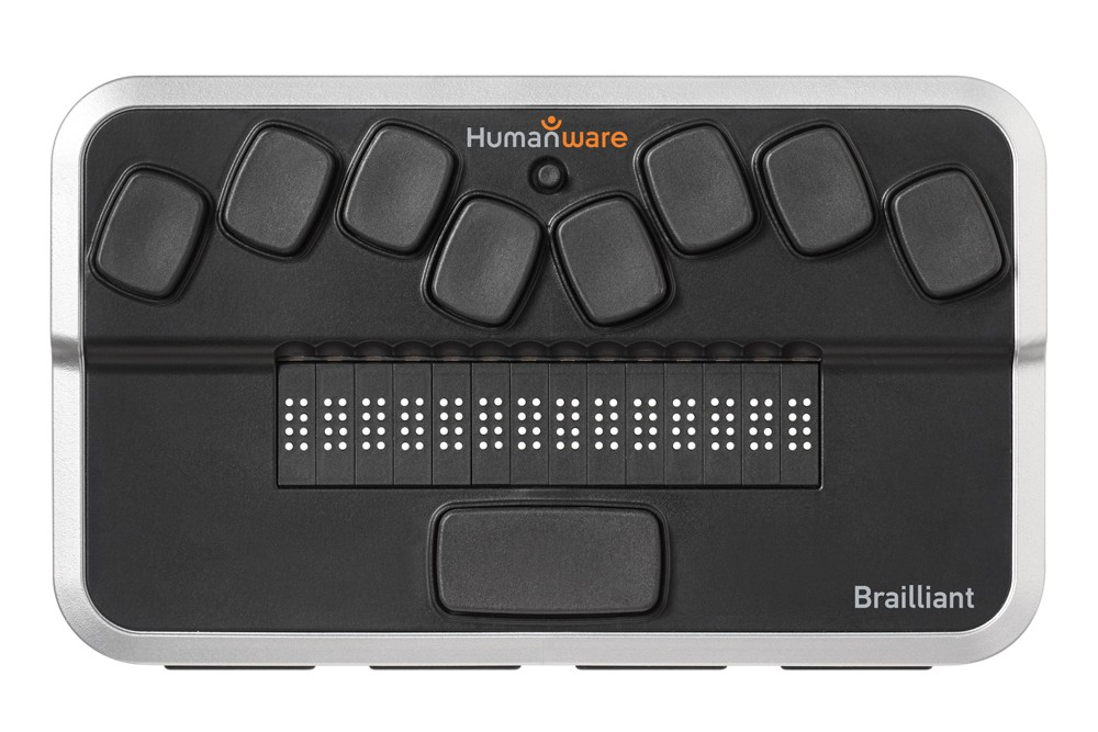 The Brailliant Braille Display by Humanware is compatible with Mac computers.